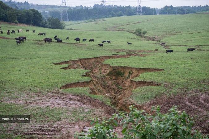 Cicatriz deixada pelo terremoto